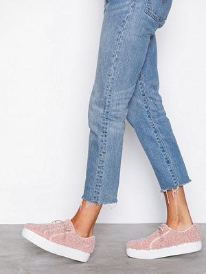 NLY Shoes Furry Sneaker Dusty Pink