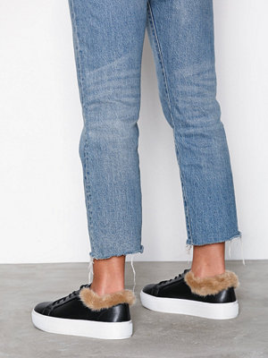 NLY Shoes Fuzz Ankle Sneaker Svart