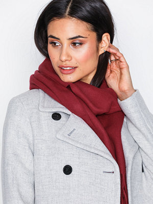Gant Solid Lambswool Woven Scarf Wine
