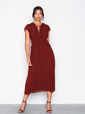 MICHAEL Michael Kors Lace Up Maxi Dress Poppy