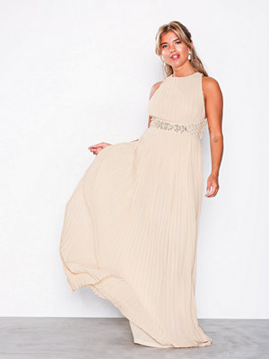 TFNC Adora Maxi Dress Light Beige