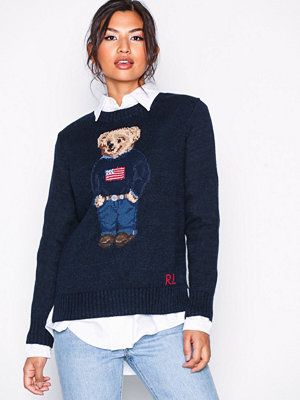 Polo Ralph Lauren Bear Sweater-Long Sleeve-Sweater Navy