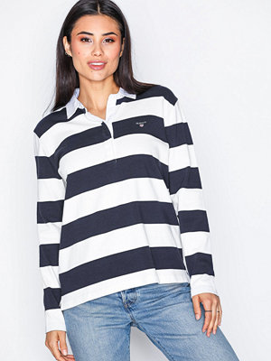 Gant O1. Heavy Rugger Ls Striped Marine