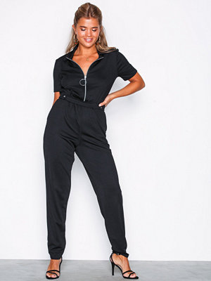 Jumpsuits & playsuits - NLY Trend Jersey Boilersuit Svart