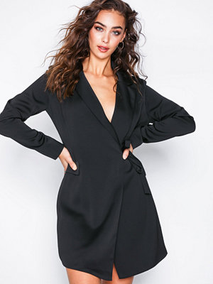 Glamorous Wrap Blazer Dress Black