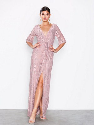 NLY Eve Forever Lace Wrap Gown Lila
