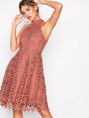 NLY Eve Sportscut Crochet Dress Rust
