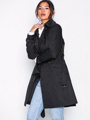 Lauren Ralph Lauren Cotton Trenchcoat Black