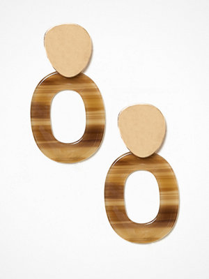New Look örhängen Organic Resin Oval Earring Multicolor