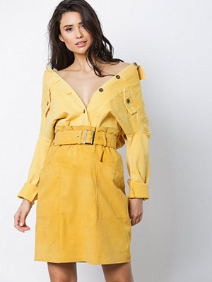 NORR Violet suede skirt Yellow
