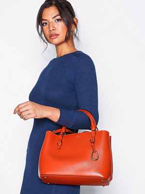 Handväskor - Lauren Ralph Lauren Medium Satchel Orange