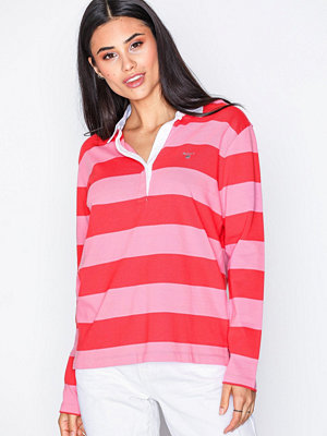 Gant O1. Heavy Rugger Ls Striped Orange