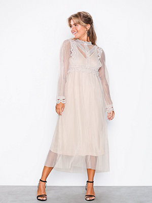 U Collection Long Sleeve Mesh Dress