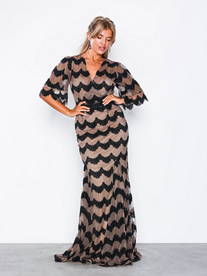 U Collection Short Sleeve Maxi Dress Black