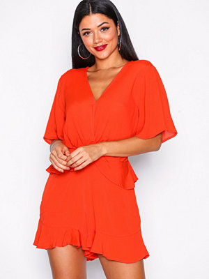 River Island Short Sleeve Playsuit