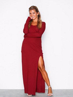 NLY Trend Tight Slit Dress Röd