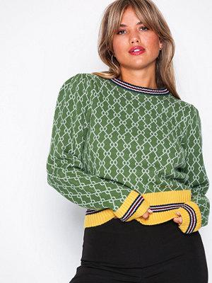 NLY Trend Retro Jacquard Knit Mönstrad