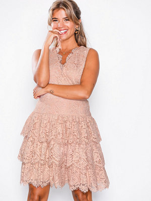 U Collection Lace Short Dress Dusty Pink