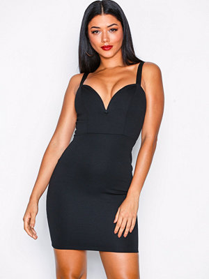 NLY One Metal Plunge Bodycon Svart