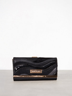 River Island Wave Cutabout Cliptop Bag Black