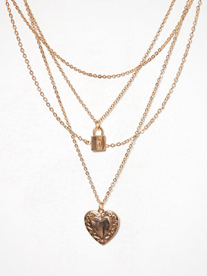 NLY Accessories halsband Heart Lock Necklace Guld