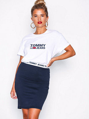 Tommy Jeans Logo Pencil Skirt Svart