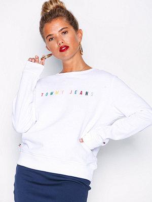 Tommy Jeans Logo Sweatshirt Vit