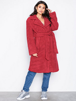 NLY Trend Tie Waist Teddy Coat