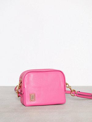 Marc Jacobs omönstrad axelväska The Mini Squeeze Vivid Pink