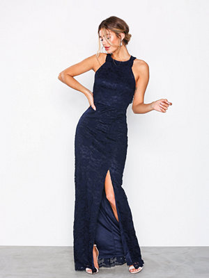 NLY Eve Open Back Lace Gown Navy