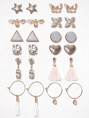 NLY Accessories örhängen Multi Pastel Earrings Flerfärgad