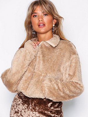 NLY Trend Soft Zip Sweat Beige