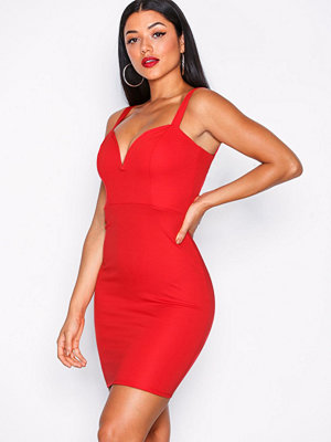NLY One Metal Plunge Bodycon Röd
