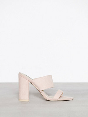 NLY Shoes Double Strap Block Sandal Dusty Pink