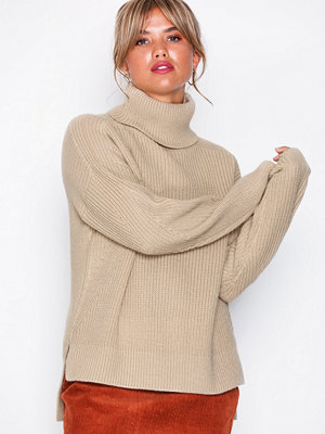 NLY Trend Rib Knit Sweater Beige
