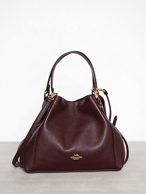 Coach Polished Pebble Lthr Edie 28 Shoulder Bag Röd