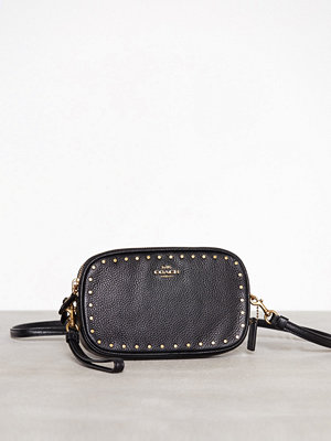 Coach Border Rivets Crossbody Clutch Svart axelväska