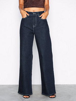 Jeans - NLY Trend Baggy Contrast Denim