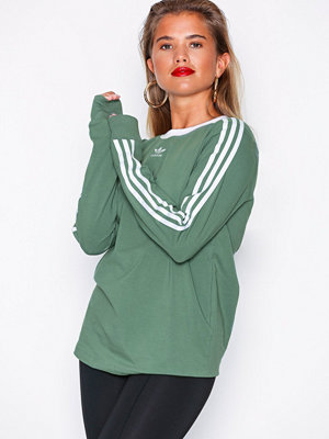 Adidas Originals 3 Stripes Long Sleeve Grön