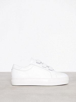 J. Lindeberg Velcro Sneaker Solid Leather Vit