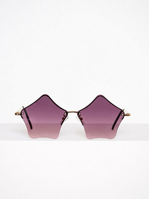 NLY Accessories Stars Sunglasses Mörk Lila