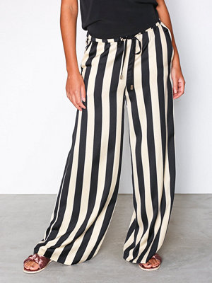 Topshop randiga byxor Striped Wide Leg Trousers Monochrome