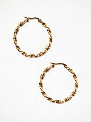 WOS örhängen Fold 34 mm Guld