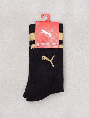 Puma Crew Heritage Stripe Sock Svart/Guld