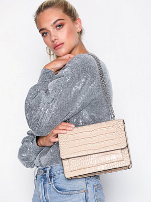 NLY Accessories mönstrad axelväska Chain Shoulder Bag Beige