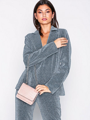 NLY Accessories cremefärgad axelväska Mini Chain Shoulder Bag Ljus Rosa