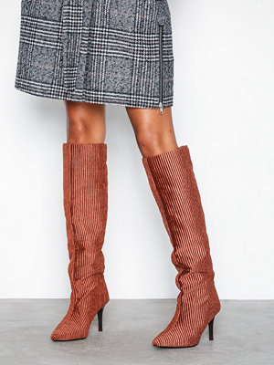 NLY Shoes Knee High Corduroy Boot Bronze