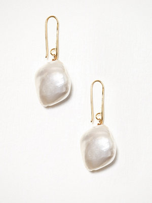 WOS örhängen Big Pearl Earrings Vit/Gul
