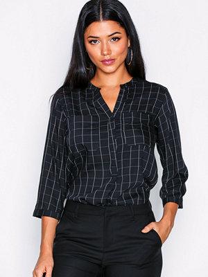 Vero Moda Vmerika Checker 3/4 Shirt Noos Svart