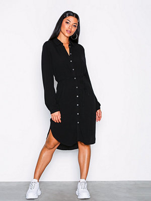 Object Collectors Item Objbay L/S Shirt Dress Noos Svart